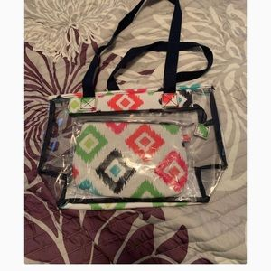Brand new clear as day duo tote by thirty-one